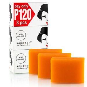 3Pcs Kojie San Skin Lightening Acid Soap
